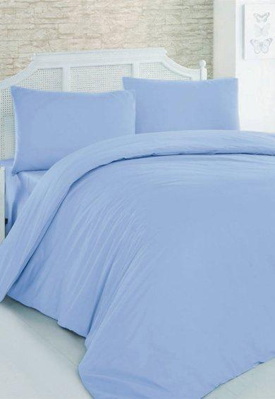 Leunelle Set de pat albastru deschis din material ranforce