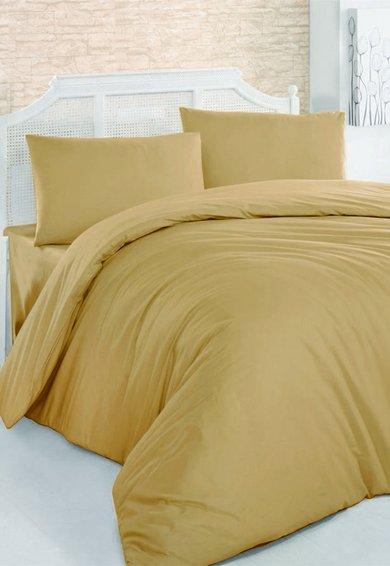 Leunelle Set de pat galben mustar inchis din material ranforce