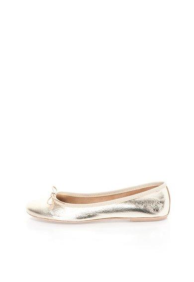 FashionDays.ro: Balerini aurii din piele Zee Lane
