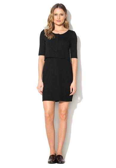 French Connection Rochie neagra cu aspect 2in1