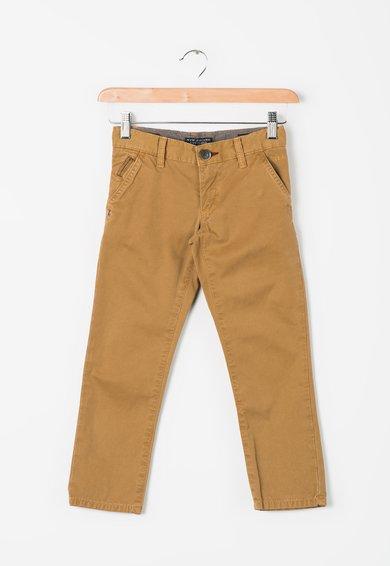 Pantaloni chino maro camel regular fit