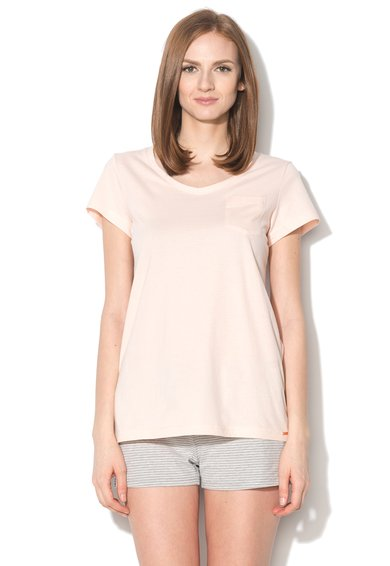 Tricou de casa roz piersica Sleep And Dream de la Skiny