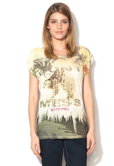 Tricou multicolor cu imprimeu Mahnaz