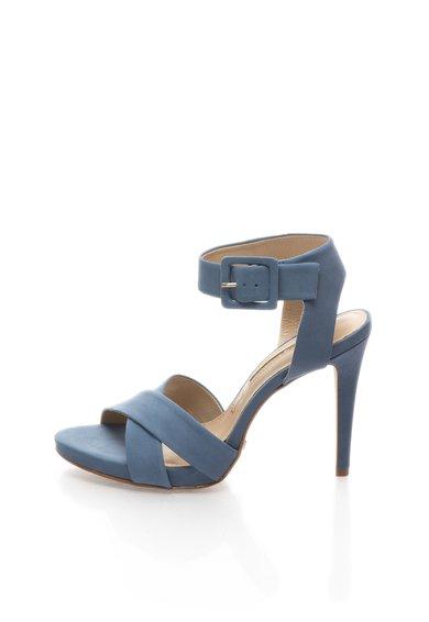 Sandale albastru prafuit din piele nabuc de la Buffalo