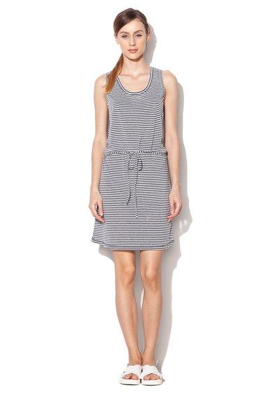 Rochie pentru plaja gri cu alb in dungi Hamptons de la Esprit Bodywear