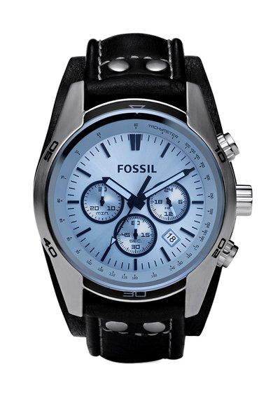 FashionDays.ro: Ceas cronograf negru cu argintiu Coachman Fossil