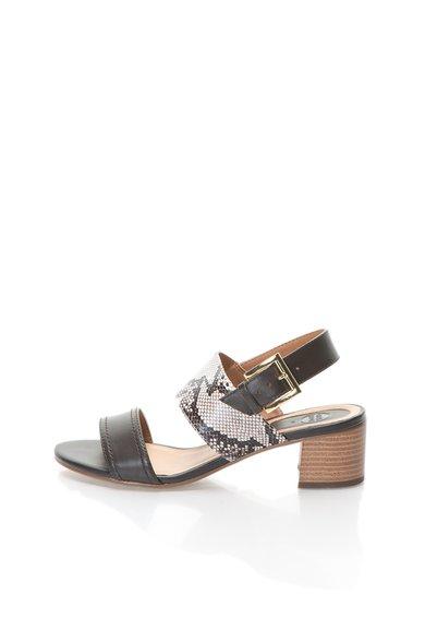 FashionDays.ro: Sandale maro cu bej cu model sarpe Ibio Gioseppo