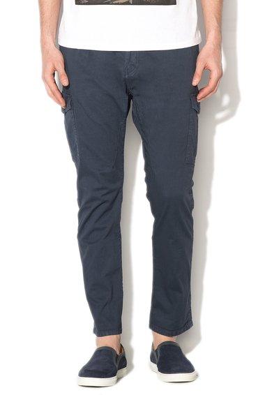 Pantaloni cargo bleumarin prafuit
