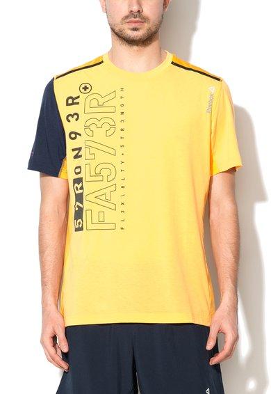 FashionDays.ro: Tricou slim fit portocaliu cu negru pentru antrenament Reebok