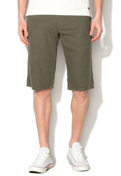 FashionDays.ro: Bermude verde militar regular fit EDC by ESPRIT