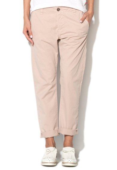 J Brand Pantaloni bej chino cu talie joasa Inez
