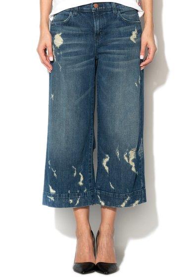 Fusta-pantalon albastra din denim Liza de la J Brand