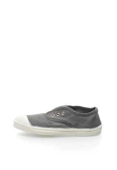 Pantofi slip-on gri de panza Tennis de la Bensimon