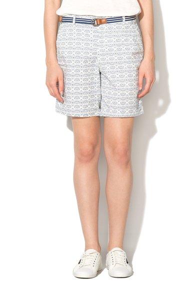 Pantaloni scurti albi cu model albastru de la Esprit