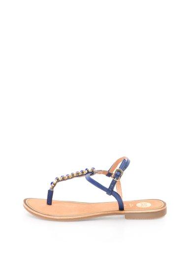 Sandale Albastre De Piele Cu Strasuri Soirans