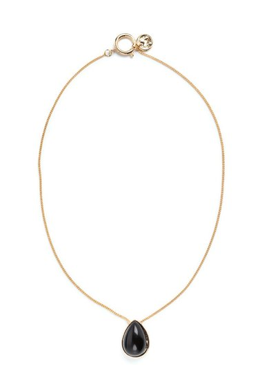 Colier auriu cu pandantiv in forma de lacrima de la M by Maiocci