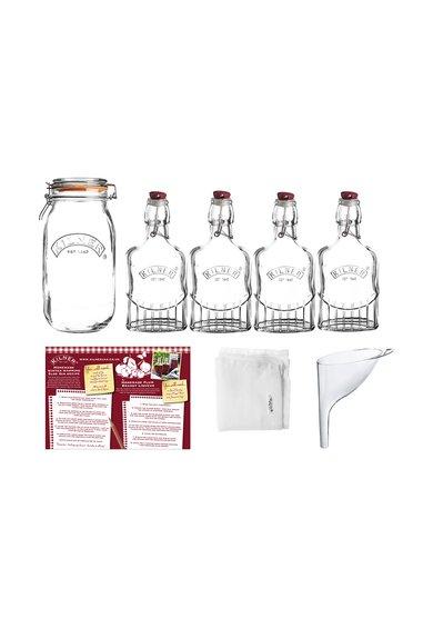 Set cadou de gin sloe de sticla transparenta – 8 piese