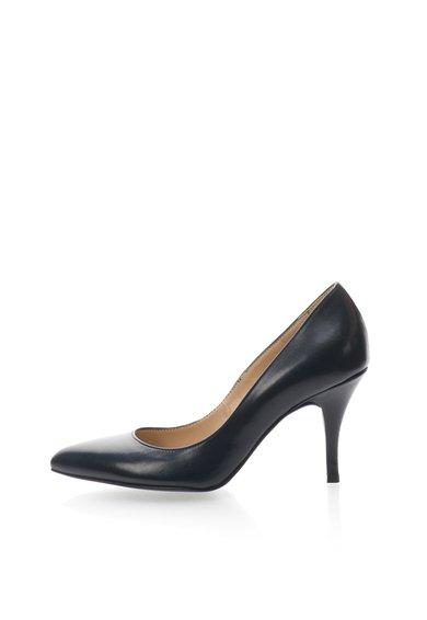 Pantofi bleumarin inchis de piele de la Zee Lane