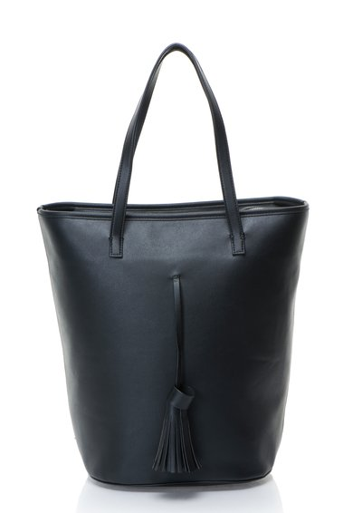 Geanta shopper neagra cu canafi de la French Connection
