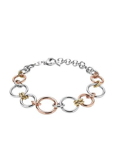 FashionDays.ro: Bratara argintiu cu auriu rose Fossil