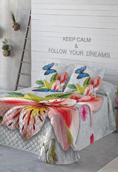 Naturals Cuvertura de pat multicolora cu imprimeu floral