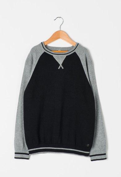 Pulover negru cu gri melange