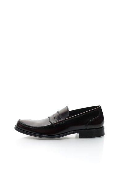 Pantofi loafer bordeaux inchis din piele Conrad de la Versace 19.69 Abbigliamento Sportivo