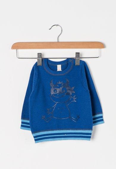 FashionDays.ro: Pulover albastru safir cu desene imprimate ESPRIT