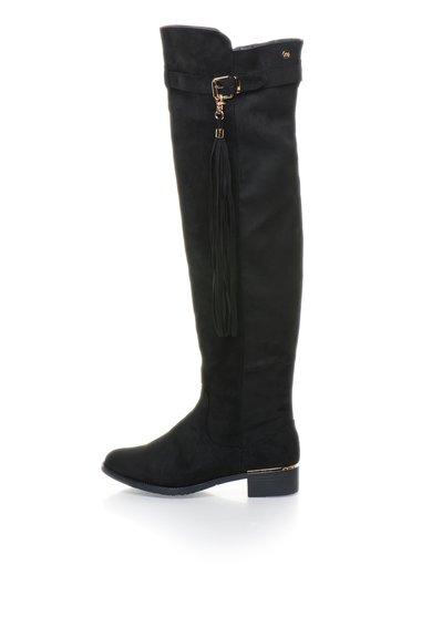 FashionDays.ro: Cizme negre inalte peste genunchi XTI