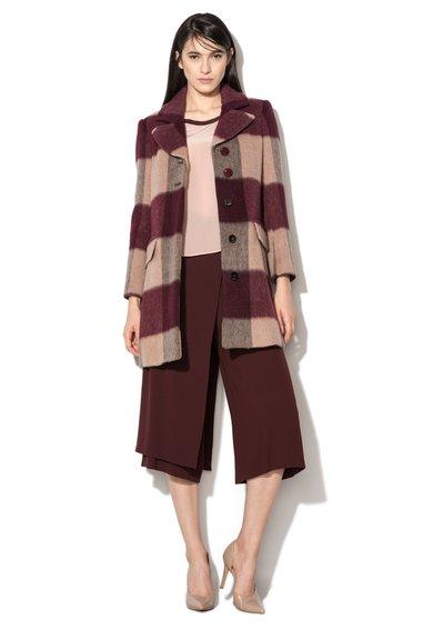 FashionDays.ro: Haina tricolora din amestec de lana Devon MaxCo
