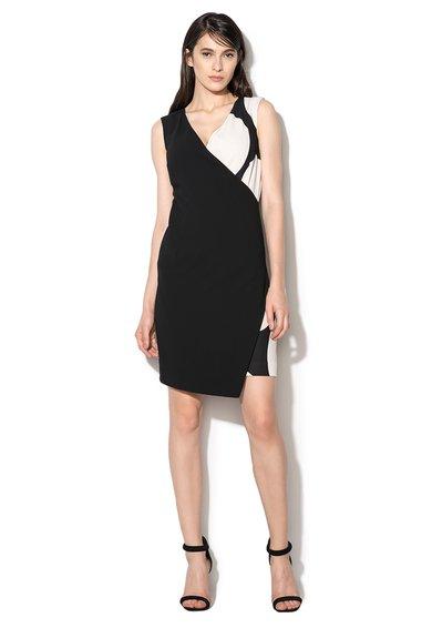FashionDays.ro: Rochie negru cu alb fara maneci Magritte Pennyblack