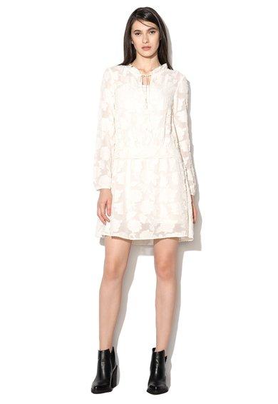 FashionDays.ro: Rochie alb prafuit texturata Malese Pennyblack