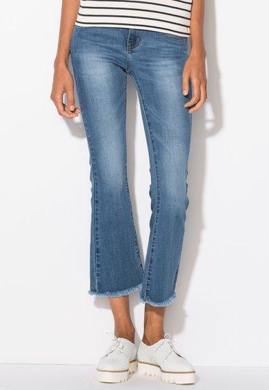 FashionDays.ro: Jeansi crop evazati albastri Zee Lane Denim