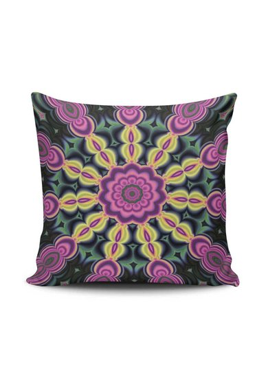 Husa multicolora pentru perna decorativa Mandala de la Leunelle
