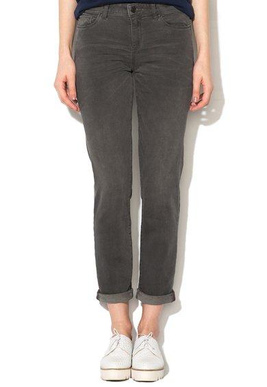 FashionDays.ro: Jeansi crop slim fit gri inchis ESPRIT