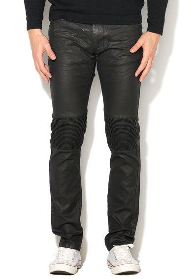 Sisley Jeansi skinny negri peliculizati cu striatii pe genunchi