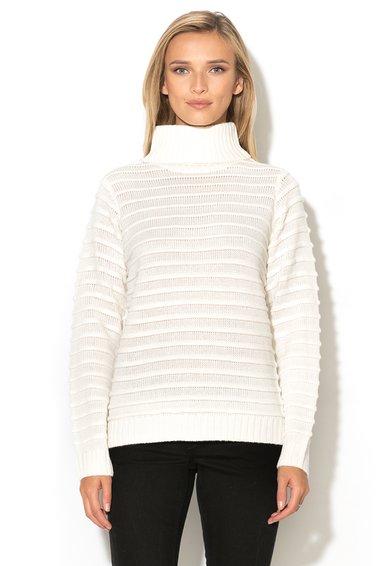 Blend She Pulover alb unt cu model striat Karna