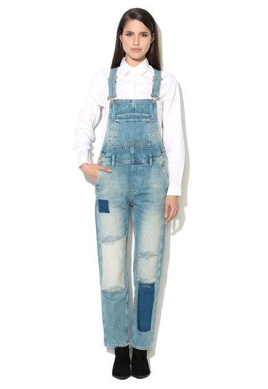 Pepe Jeans London Salopeta bleu din denim Billie