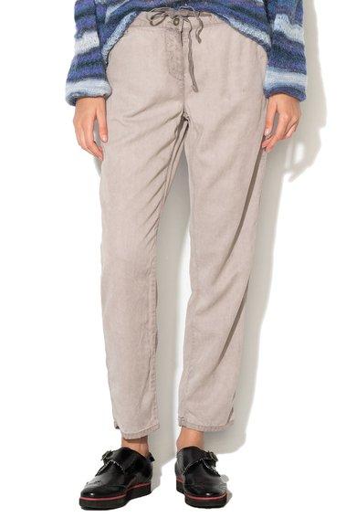 Pantaloni drepti gri din lyocell de la United Colors Of Benetton