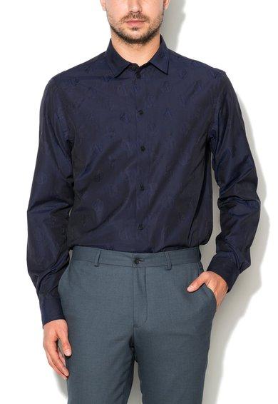 Camasa bleumarin regular fit cu model logo de la VERSACE JEANS