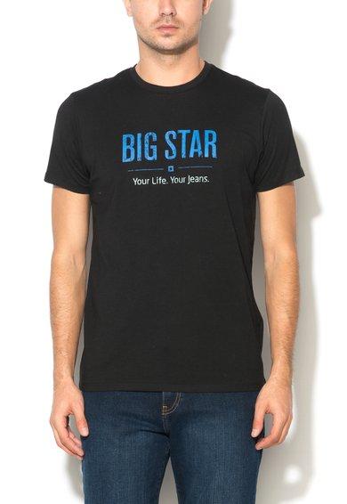 Big Star Tricou negru cu imprimeu text Bruno