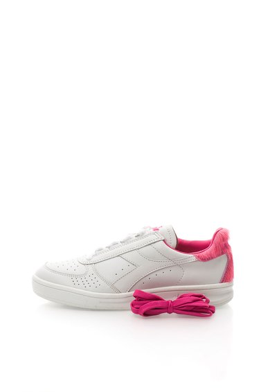 Tenisi alb cu roz de piele Elite de la Diadora Heritage