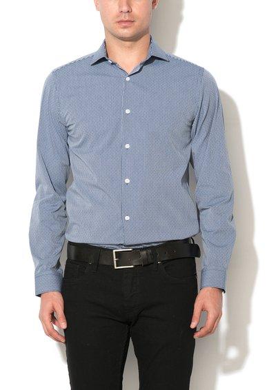 Camasa slim fit albastru cu alb prafuit Pisa de la Selected Homme