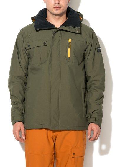 FashionDays.ro: Jacheta verde militar pentru sporturi de iarna Quiksilver