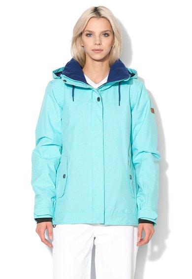 Jacheta pentru sporturi de iarna albastru aqua de la Roxy