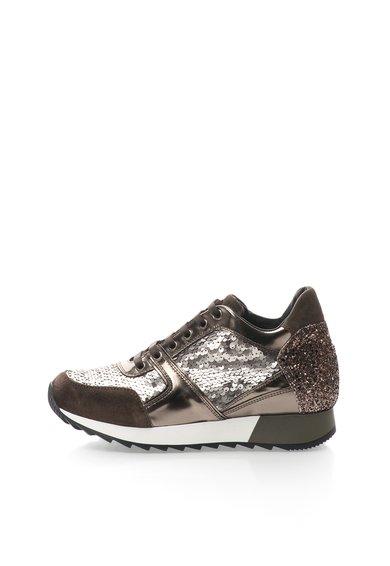 FashionDays.ro: Pantofi casual gri hematit cu maro inchis Debbi Tosca Blu