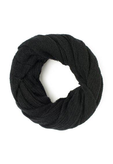 ESPRIT Fular circular tricotat negru