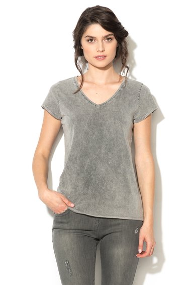 Tricou gri deschis cu aspect decolorat Dazzy de la Blend She
