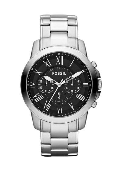 FashionDays.ro: Ceas cronograf argintiu cu negru Fossil
