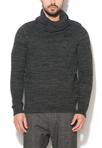 FashionDays.ro: Pulover gri inchis melange cu guler inalt rasucit EDC by ESPRIT